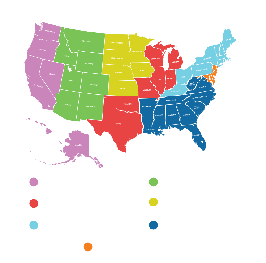 HVS Sales throughout the United States