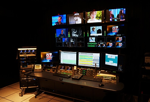 News Station Master Control Room Photo | Network Broadcast Systen